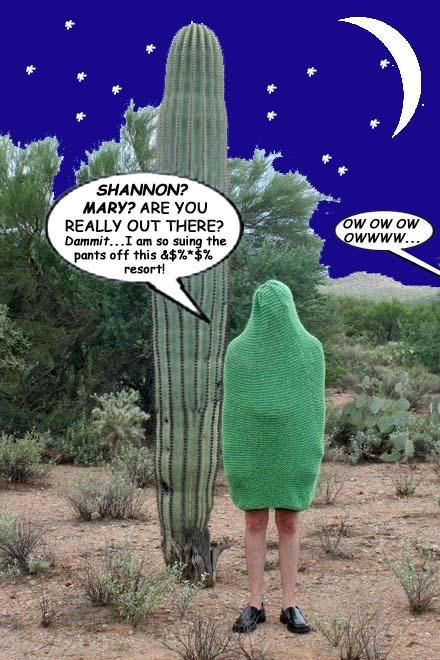 Aggie in the desert